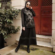 Butik Melike damski szczegółowy kombinezon przedni 2021 nowości hidżab abaya moda muzułmańska zestaw islamska odzież modlitewna odzież turcja