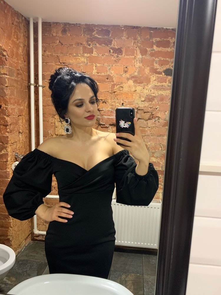 Nibber sexy pure V Neck off shoulder bodycon dress women autumn winter club party night red Elegant midi dress Mujer black dress|Dresses|   - AliExpress