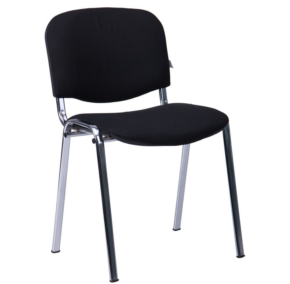 Chair NICE NEW AM, Chrome Chassis Fabric A1, Black *.