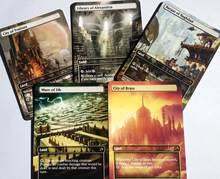 Paquet De 15 terres classiques, art complet magique MTG, art alterné, double alternative