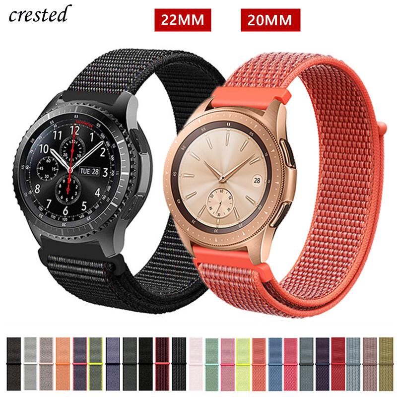 20/22mm Band For Galaxy Watch 46mm/42mm/active 2 Strap Samsung Gear S3 Frontier Sport Nylon Bracelet Huawei Watch GT S2 42 46 Mm