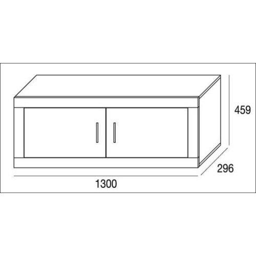 Mueble de salón completo, color blanco artico, muebles de TV, apilables ref-199 5
