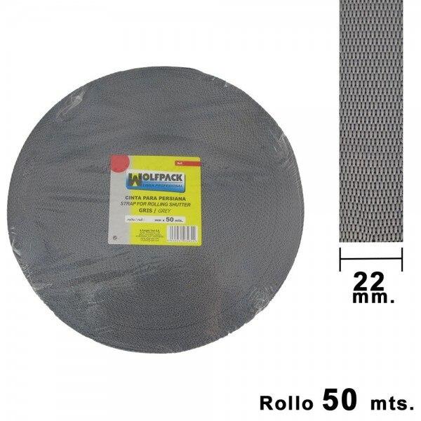 Tape Blind Wolfpack Gray 22mm. Roll 50 Meters