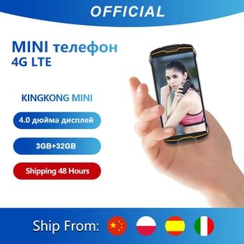 """Cubot KingKong MINI 4 """"QHD + 18:9 écran Petit smartphone téléphone robuste étanche 2000mAh 4G LTE dual-sim 3GB + 32GB Android 9.0 Téléphone portable extérieur caméra arrière 13MP Smartphone 4 pouces sans contrat"""
