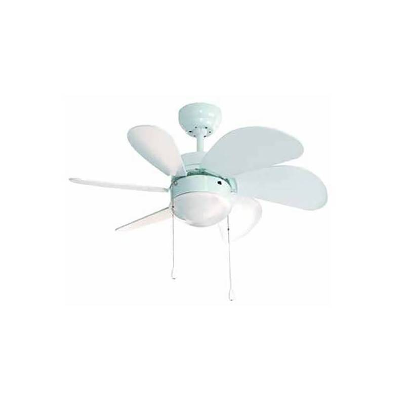 Ceiling Fan With Light Group FM VT-90B 50W White 80 Cm