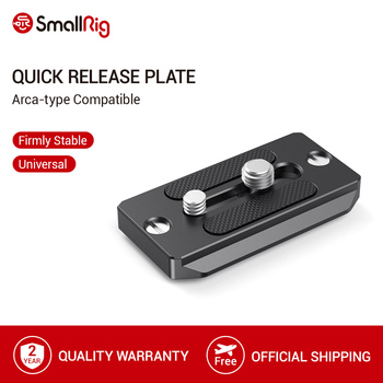 SmallRig Quick Release Plate Arca-type Compatible Plate for Dslr Camera Cage Tripod Plate Video Support Rig - 2146 sirui va 5 fluid video head with arca swiss compatible quick release plate