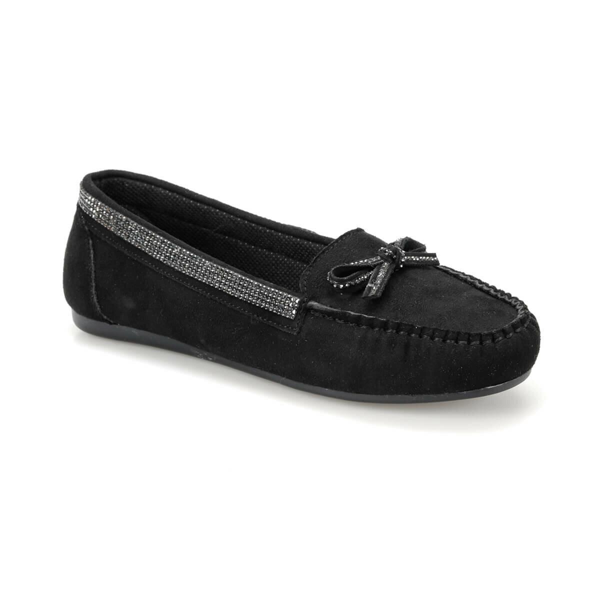 FLO DS19034 Black Women Loafer Shoes Miss F