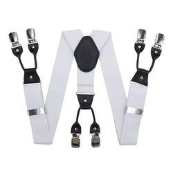 Hosenträger für hosen breite (4 cm, 6 clips, weiß) 53959