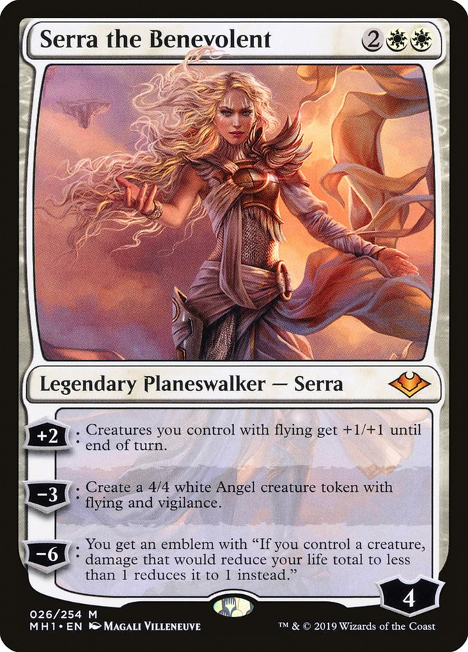 Serra The Benevolent MH1 Hologram Magician ProxyKing 8.0 VIP The Proxy Cards To Gathering Every Single Mg Card.