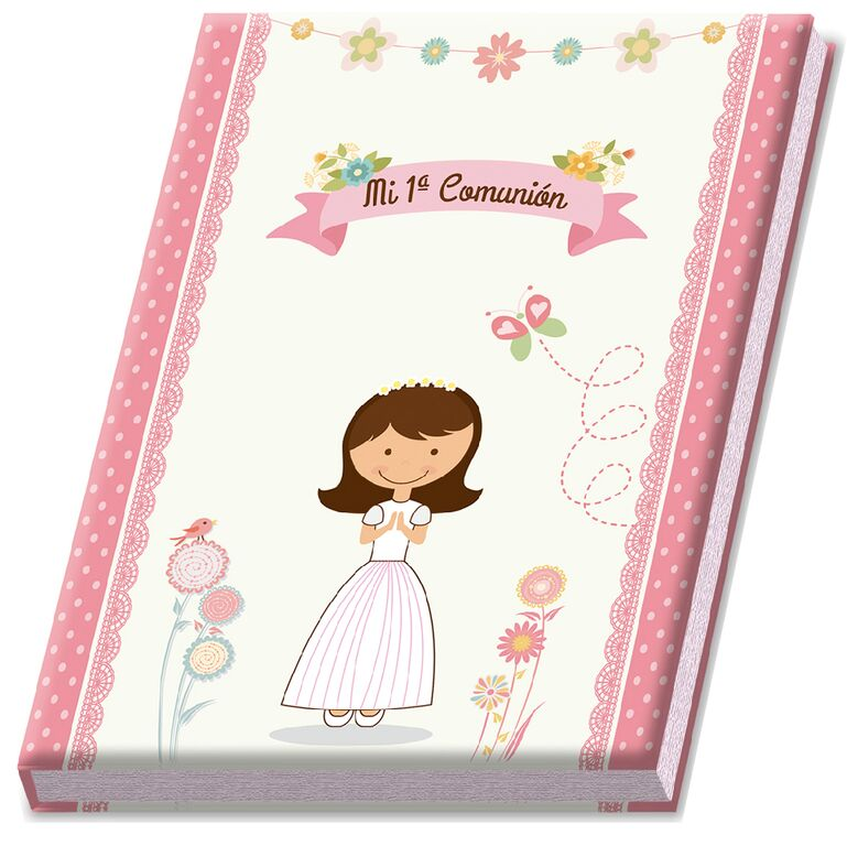 Album Signature And Pictures 1ª Communion GIRL In Cash Box Gift-Details And Gifts For Communions, Birthday And Holiday.
