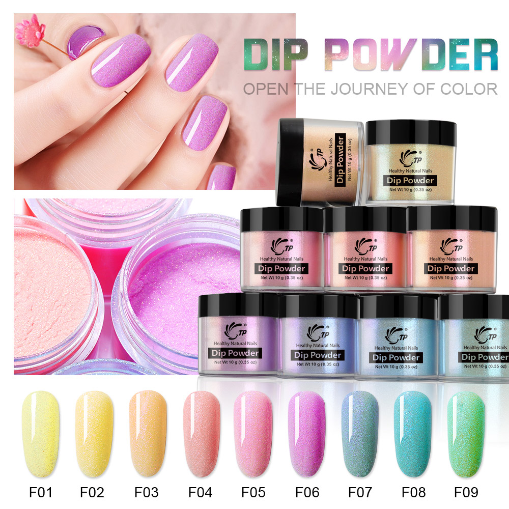 Dipping Powder Nails Glitter for Nail Art 10ml Nude Clear Dips Powder Blink Dust Manicure For Design Polish No Lamp Natural Dry