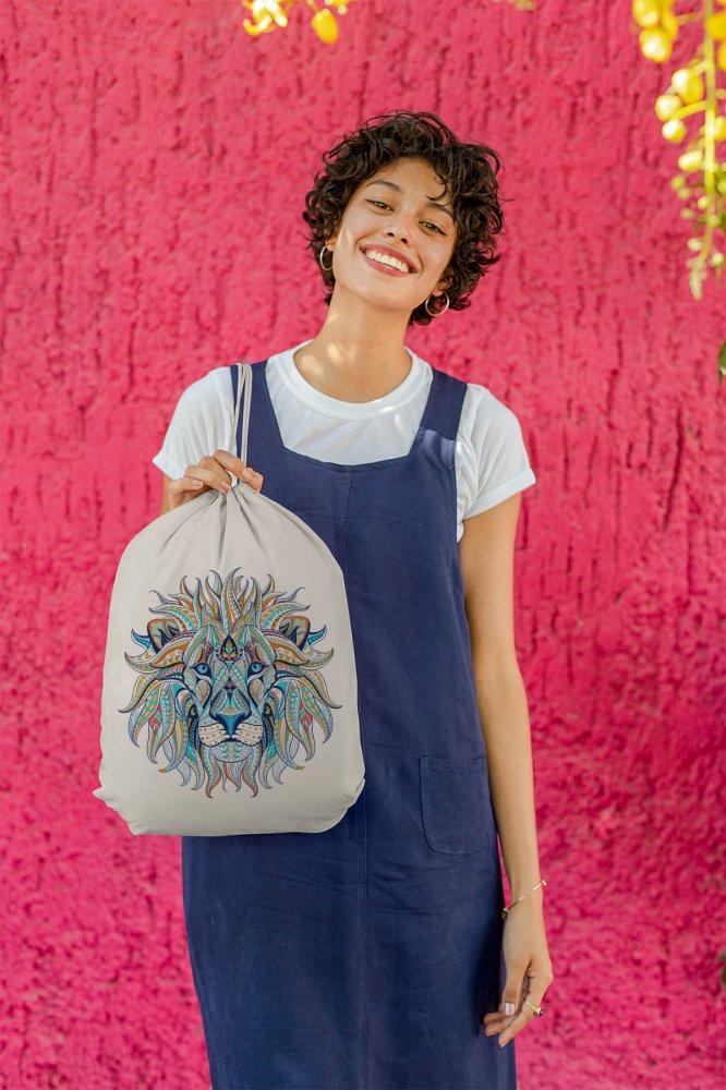 Angemiel Bag Blue Shades Lion Cloth Backpack