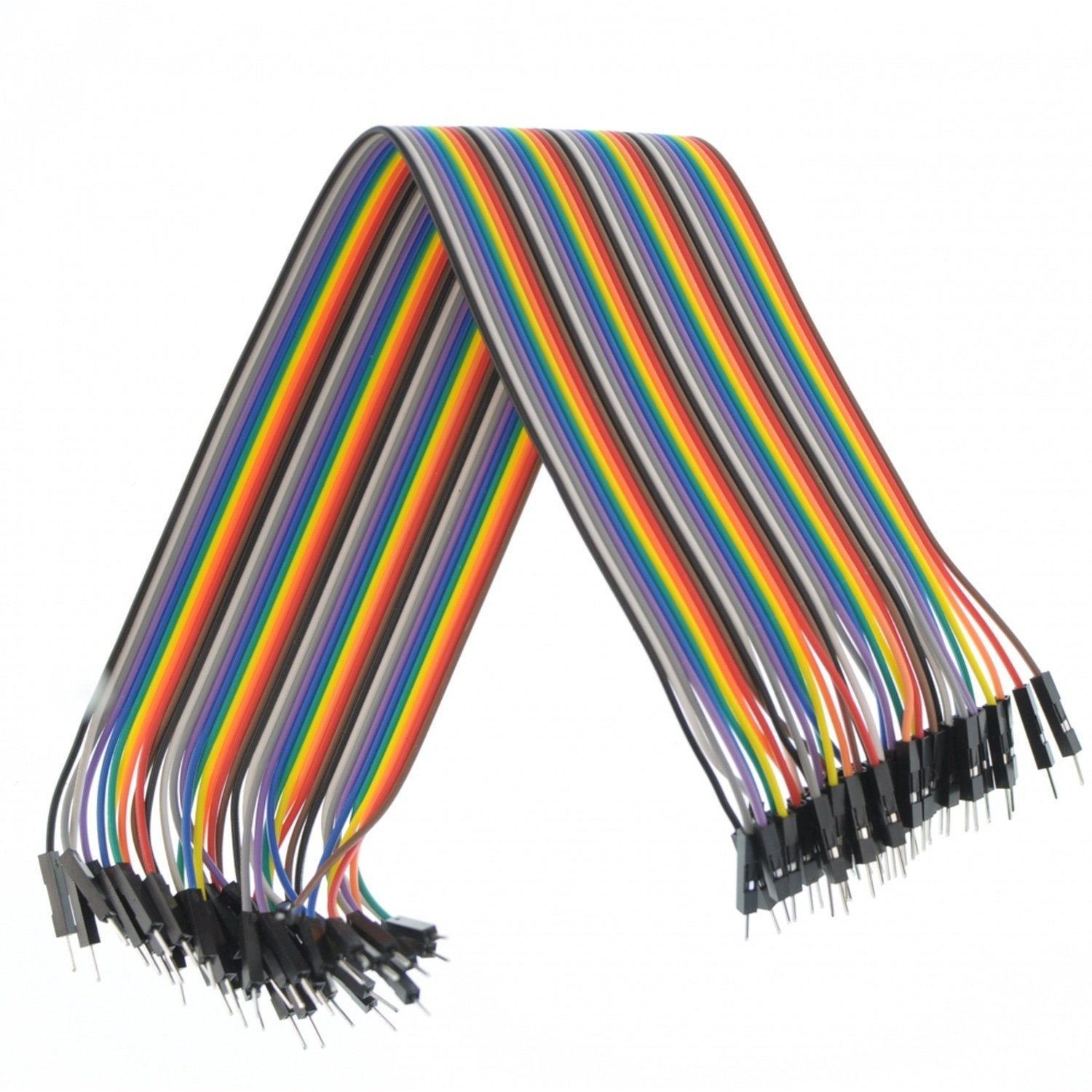 цена на Male cord 40pcs Dupont Jumper Wire 30cm Breadboard for Arduino [Arduino Projects]