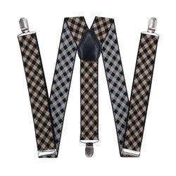 Hosen hosenträger breit (3,5 cm, 3 clips, Braun, Käfig) 54167