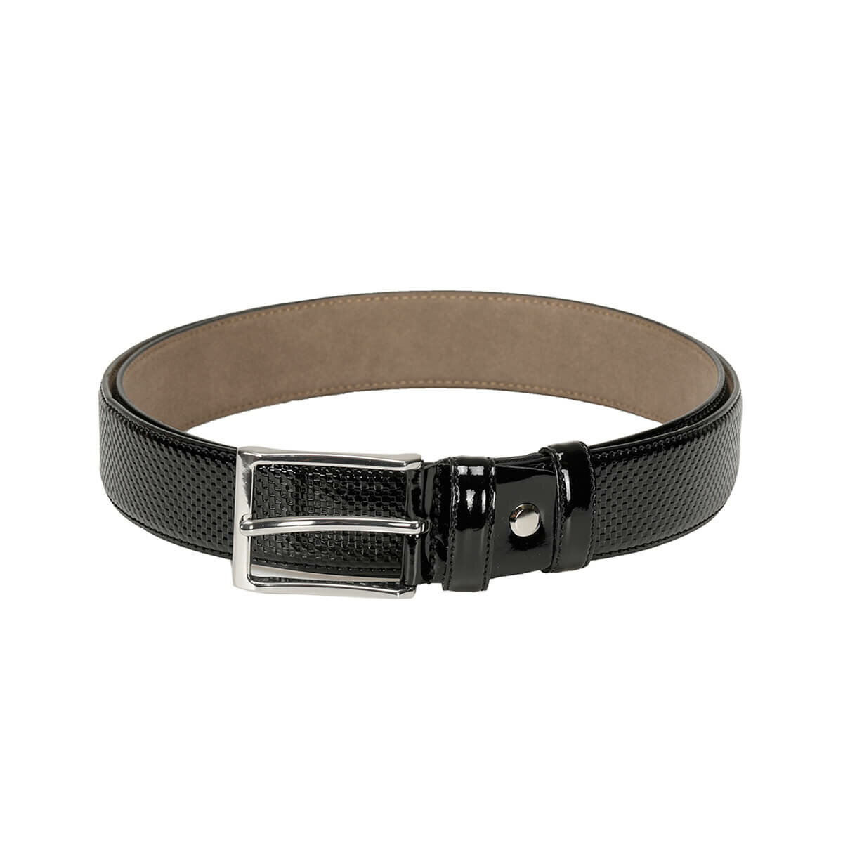 FLO MKNYL3409 Black Male Belt Garamond
