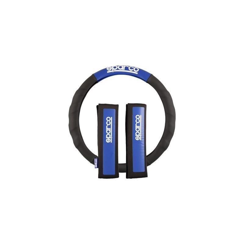 SPC1111KAZ-Set de plaquettes et boitier volant Sparco, coloris bleu