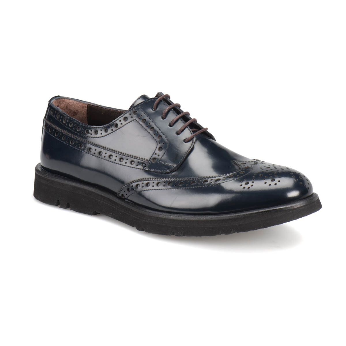 FLO SYNAR Navy Blue Men 'S Classic Shoes MERCEDES
