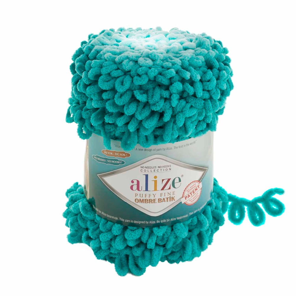 Alize Puffy Fine OMBRE Batik LOOPY Yarn 100/% Micropolyester Soft Hand Knitting
