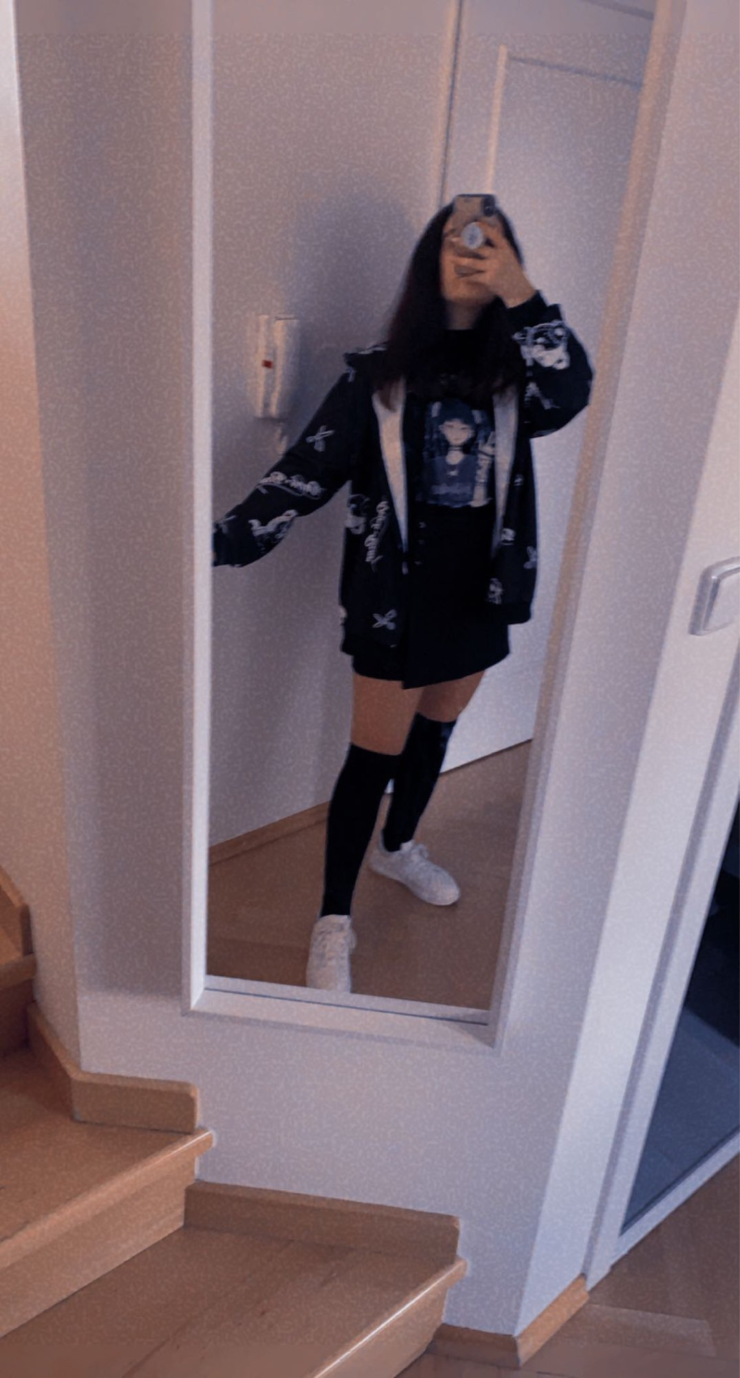 Harajuku Egirl Gothic Hoodies with bear print photo review