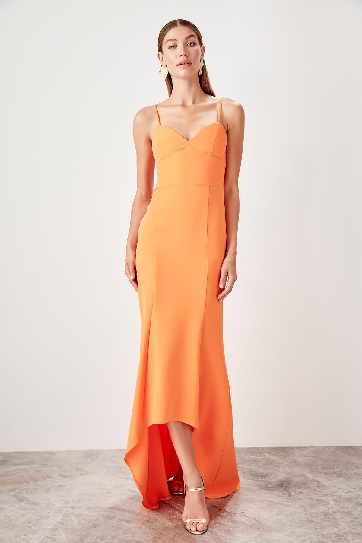 Trendyol Collar Detail Evening Dress Dress TPRSS19UT0197