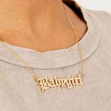 Старый Английский колье для женщин девочки лето подвески ожерелья