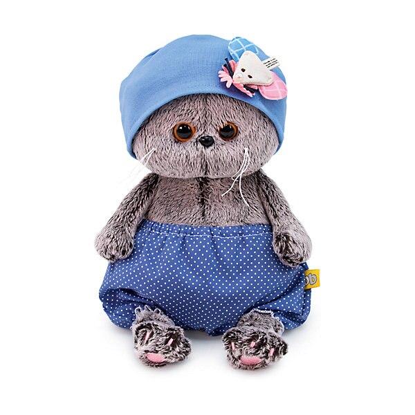 Peluche Budi Basa chat Basik bonnet bébé avec souris, 20 cm