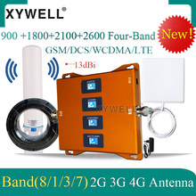 900 1800 2100 2600 mhz quatro-faixa 4g celular amplificador de sinal gsm repetidor 2g 3g 4g sinal impulsionador gsm dcs wcdma lte
