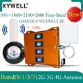 900 1800 2100 2600 Mhz Vier-Band 4G Zellulären Signal Verstärker Handy GSM Repeater 2G 3G 4G Signal Booster GSM DCS WCDMA LTE
