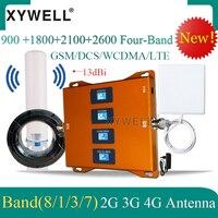 Amplificador de sinal celular 4g  repetidor de sinal de 900  1800  2100 mhz  4g  2600 mhz impulsionador de sinal g 4g  gsm  dcs  wcdma  lte