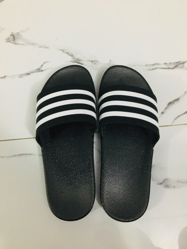 Fashion Men's Slippers Zebra Striped Color Indoor Sandals Home Flat Flip flops Solid Basic Slides Shoes Soft PVC House Slippers Slippers    - AliExpress