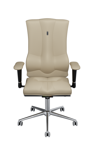 Office Chair KULIK SYSTEM ELEGANCE Beige Computer Chair Relief And Comfort For The Back 5 Zones Control Spine