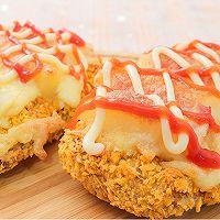 肉食主义的快乐!超大块炸鸡做的「肯德基同款chizza」的做法图解8