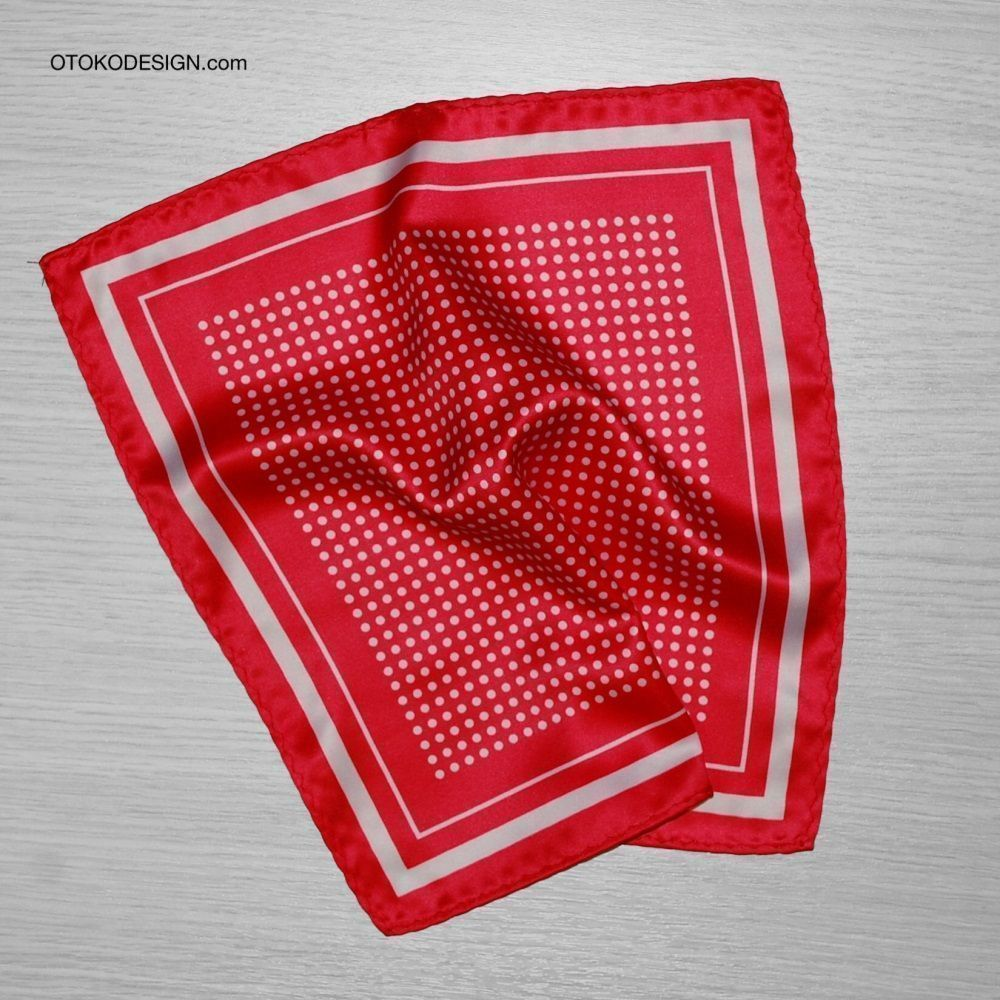 Pocket Square Red Polka Dot (50925)