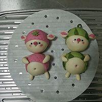 草莓猪&西瓜猪的做法图解23