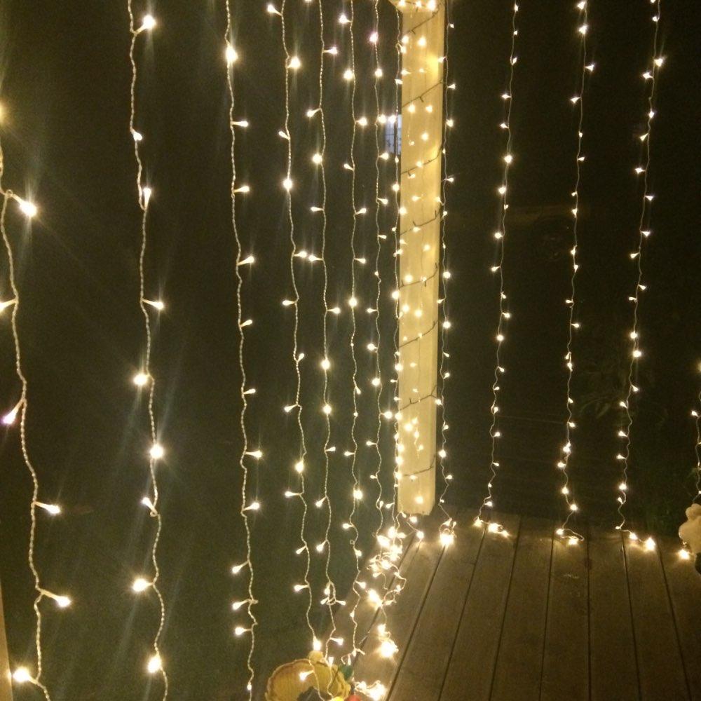 Fios de LED Garland Decorativa Casamento