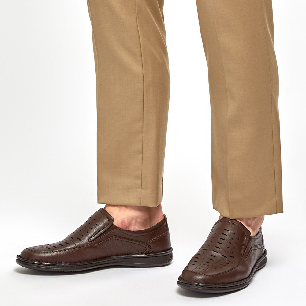 FLO 91.100575.M Brown Men 'S Classic Shoes Polaris 5 Point