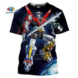 Cartoon Voltron: legendarny obrońca T-shirt 3D T-shirt z nadrukiem w stylu Casual, letnia koszulka z krótkim rękawem hip-hopowy Top Shiro Keith Lance Hunk