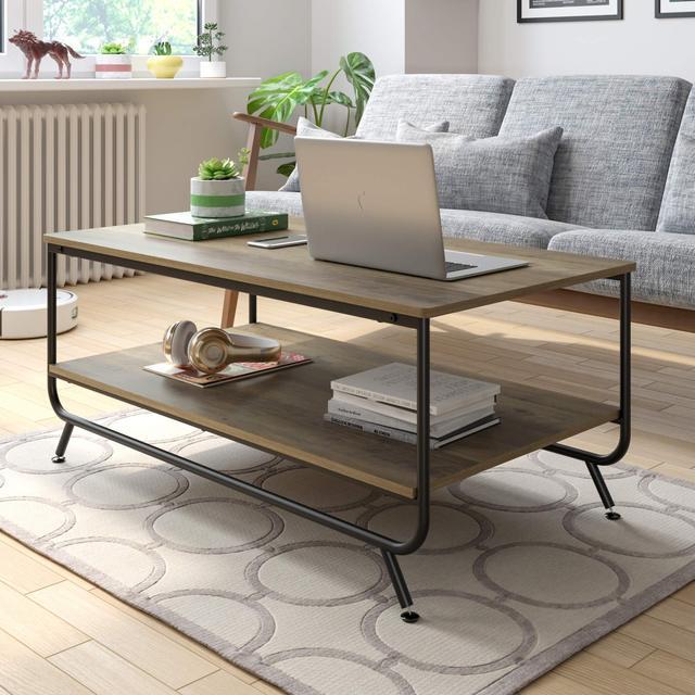 Industrial Coffee Table w/  Storage Shelf 4