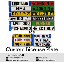 Plaque d'immatriculation personnalisée de type EU, accessoire de voiture en Aluminium, accessoire de camion, plaque d'immatriculation, réglage universel