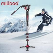 """Miliboo MTT705 aluminium Portable tête fluide caméra monopode pour caméscope/DSLR support professionnel vidéo trépied 72 """"hauteur maximale"""
