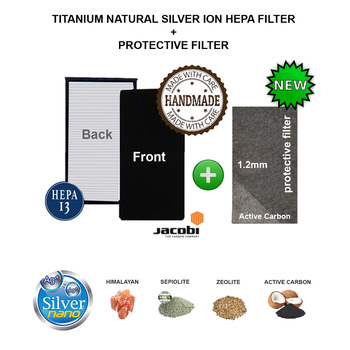 SANYO ABC-HP14 AR15 AC16 AC17 AC27 Air Purifier Compatible Hepa Carbon Combined Filter Silver Ion Protective Filter image