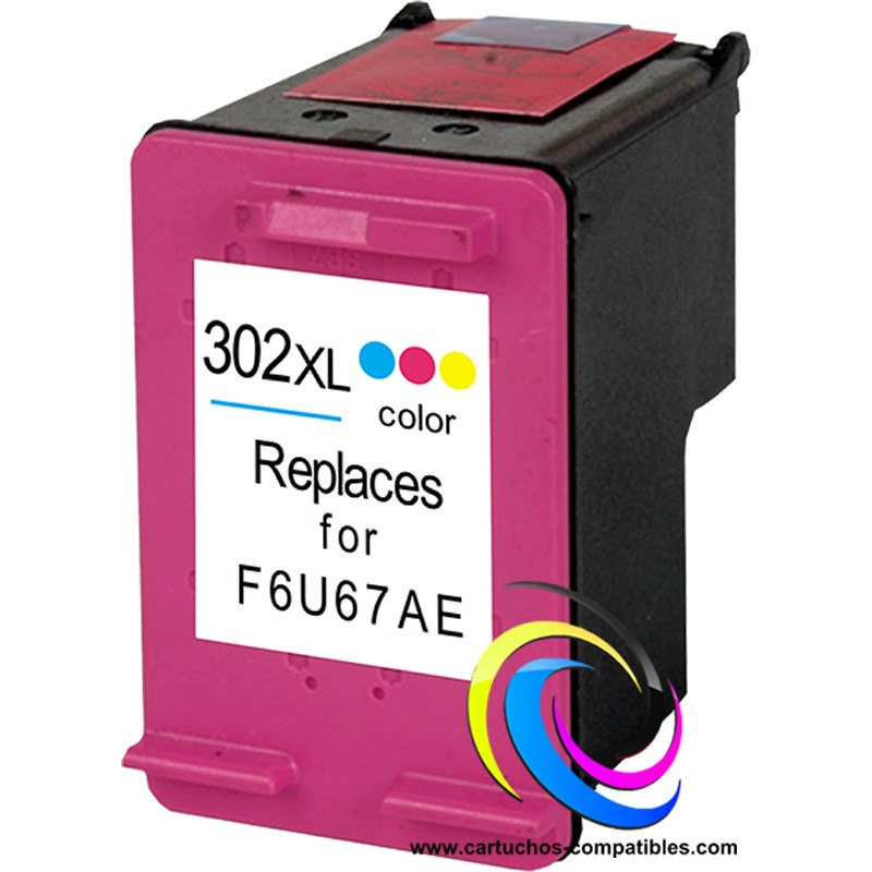 <font><b>HP</b></font> 302 XL Color 302XL <font><b>DeskJet</b></font> 2100 2130 2132 2133 2134 3630 3631 3632 3633 3634 3635 3636 3637 3638 <font><b>3639</b></font> OfficeJet 5258 5264 image