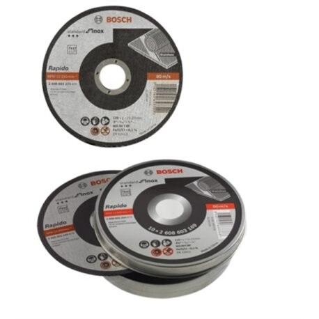 CUTTING DISC INOX 115X1 MM BOSCH 10 PZ
