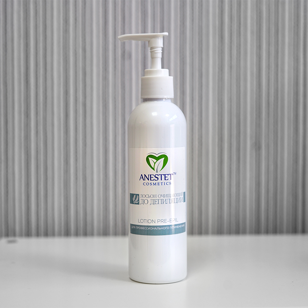Lotion Before Depilation, 230 Ml. ANESTET For Sugaring Waxing, Epilation, Cleansing, Feeling Of Freshness, Aroma Of Lavender