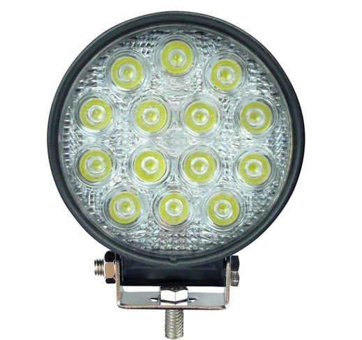 Focus <font><b>LED</b></font> Round used tractor, Boats, Industrial machinery 12 and <font><b>24</b></font> <font><b>Volt</b></font> 42 W image