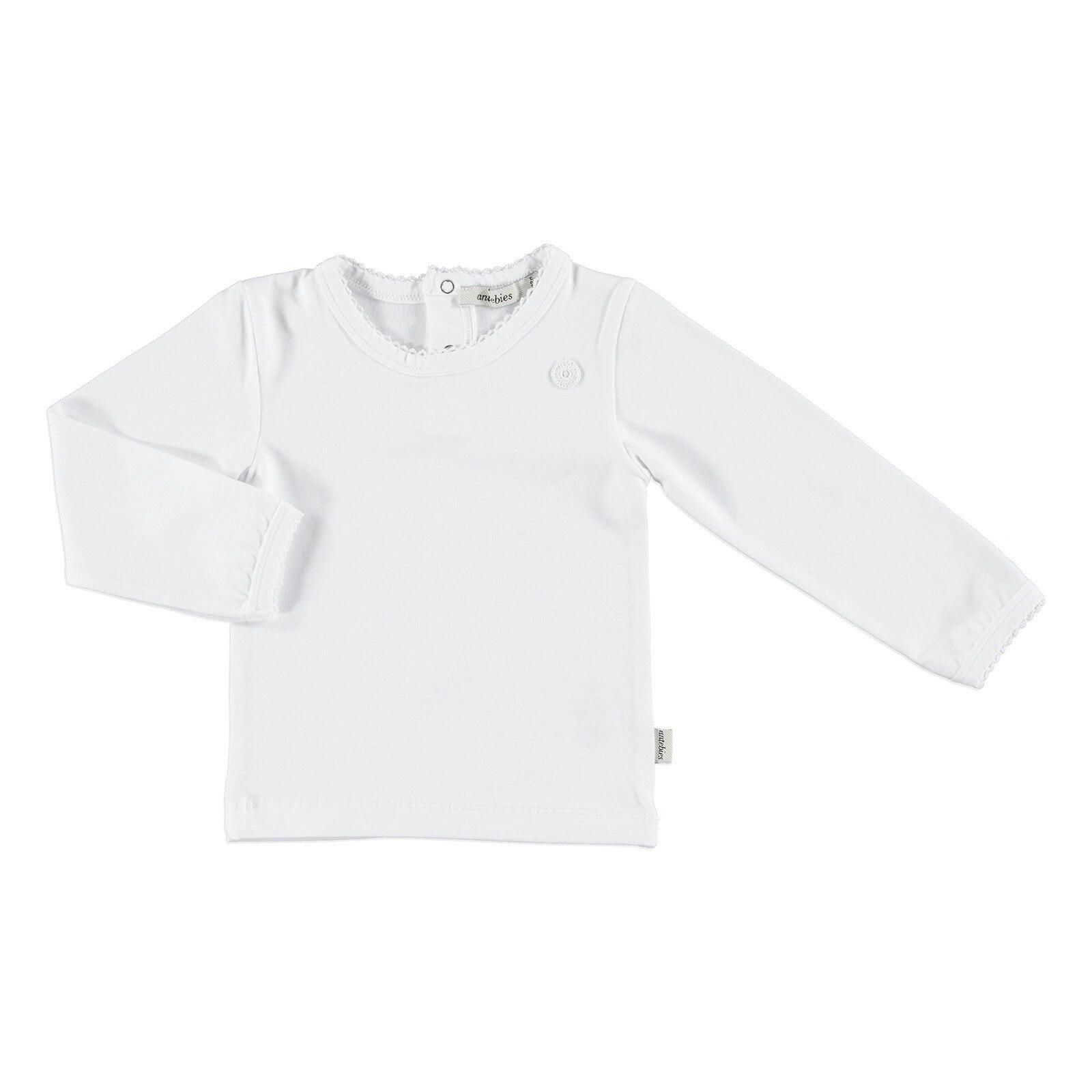Ebebek Antebies Baby Organic White Long Sleeve Bodysuit