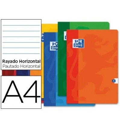 SCHOOL BOOK OXFORD 48 H DIN A4 1 HORIZONTAL STRIPE 10 Units
