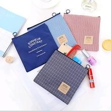Womens Fashion Handbag High Quality Canvas Sanitary Napkin Storage Bags Coin Purse Travel Portable Toiletries Make up Organizer