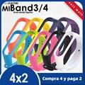 Ремешок для Xiaomi Mi Band 4, гибкий силиконовый водонепроницаемый браслет для Xiaomi Mi Band 4