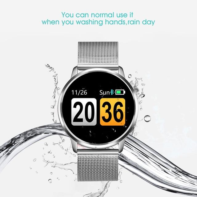 Runmaking Q8 montre intelligente OLED couleur écran Smartwatch femmes mode Fitness Tracker moniteur de fréquence cardiaque 3